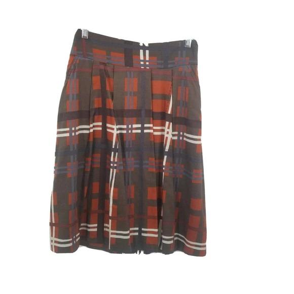 zara basic small plaid a line skirt